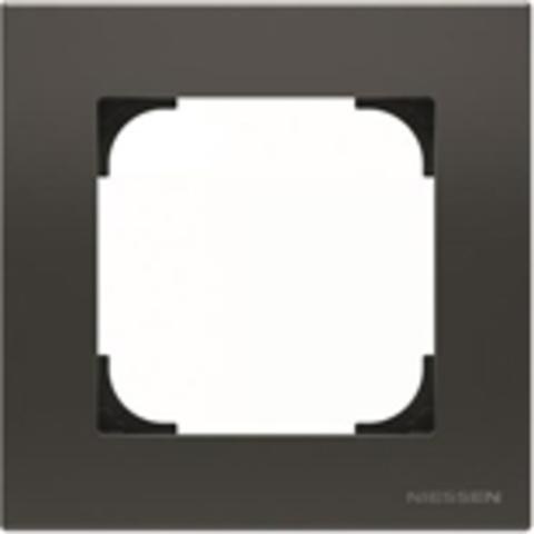 Рамка на 1 пост. Цвет Чёрный бархат. ABB(АББ). Sky(Скай). 2CLA857100A1501