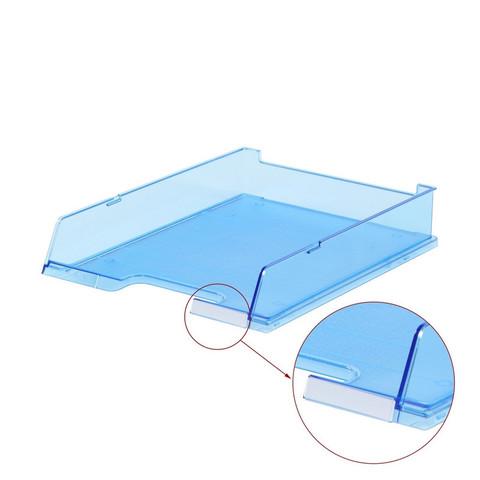 Лоток для бумаг HAN с инд.окном прозр.синий 1020/26