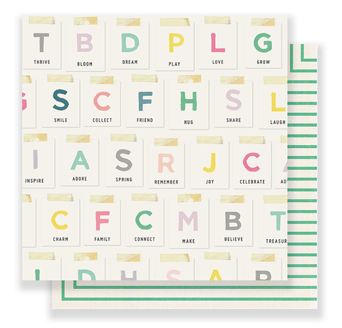 Лист двусторонней  бумаги из коллекции BLOOM от Maggie Holmes -Crate Paper