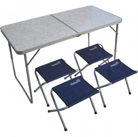 Набор мебели (сталь) (21407+21124), стол + 4 табурета  Helios