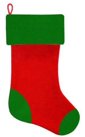 Рождественский чулок красный