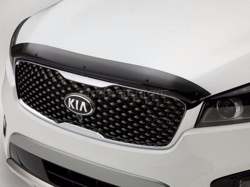 Дефлектор капота EGR для Kia Sorento Prime 2015 - free shipping 12v 6000k led drl daytime running light for kia sorento 2015 2016 fog lamp frame fog light car styling