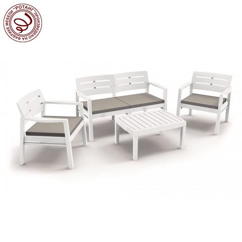 Набор мебели Java, Resort с подушками (белый)