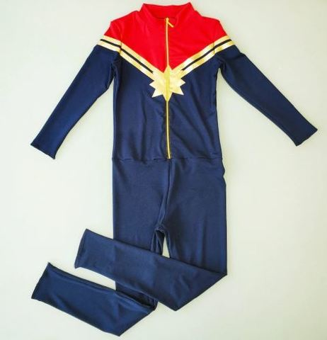 Капитан Марвел костюм для девочек и девушек