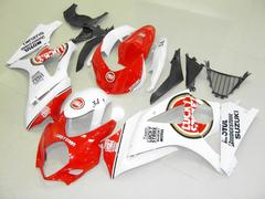 Комплект пластика для мотоцикла Suzuki GSX-R1000 07-08 Lucky Strike бело-красный