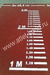 Дорожка для прыжков в длину с места (разметка), для сдачи норматива (Красная).