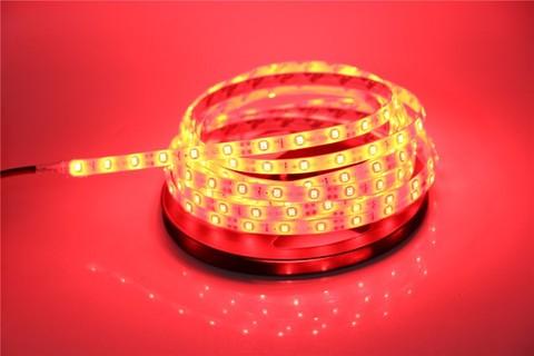 Лента 5050LED красная 5 метров  светодиодная