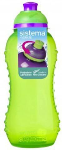 Детская бутылка для воды Sistema, зеленая 330 мл