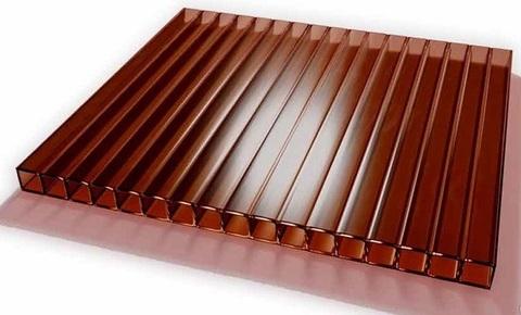 Поликарбонат сотовый 6000*2100мм (4мм) Коричневый