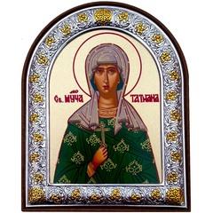 Татьяна Римская. Маленькая икона в серебряной раме.