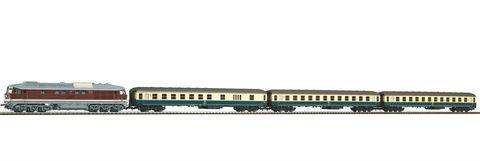 Piko 58214 Тепловоз и пассажирские вагоны Set BR 245 + 3 Silver Coin Cars , 1:87
