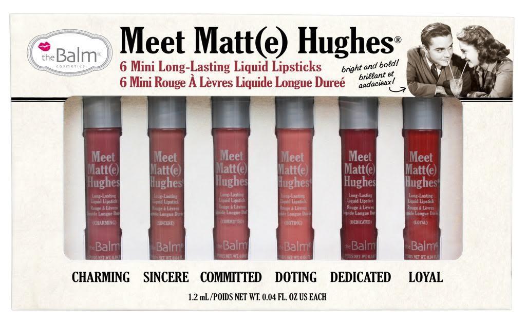 Набор из 6 оттенков мини жидких матовых помад Meet Matt(e) Hughes