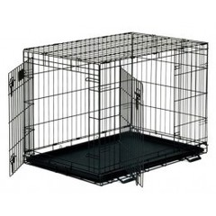 Midwest клетка Life Stage 76х53х61 см черная 2 двери Тройка