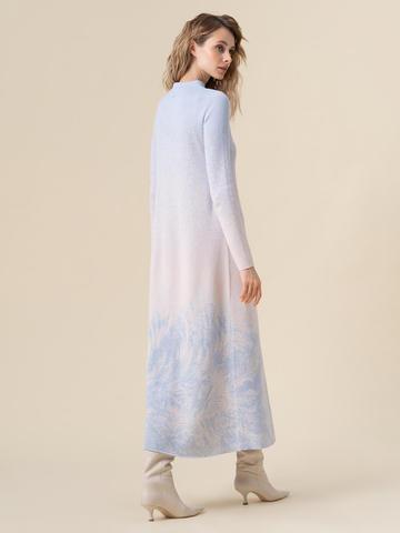 Женское платье мультиколор из кашемира и вискозы - фото 2