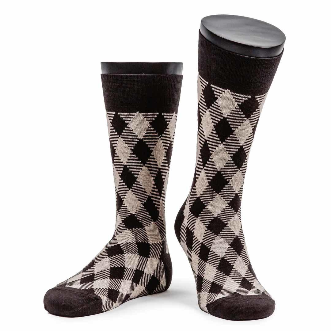 Мужские коричневые носки Marrey Nobleman