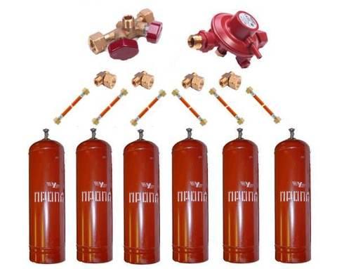 Газобаллонная система GOK (эконом) для подключения 6 металлических баллонов