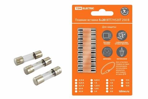 Плавкая вставка Н520Т 16А 250В TDM упак (10 шт.)