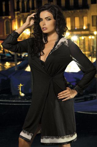 Халат женский с  кружевом   MIA-MIA  New Elegance  ЭЛЕГАНС 12017