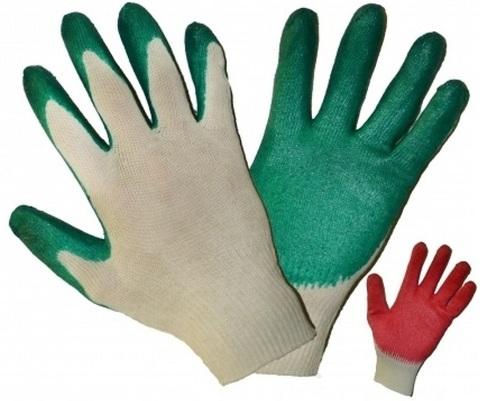 Перчатки с латексным покрытием 1 облив