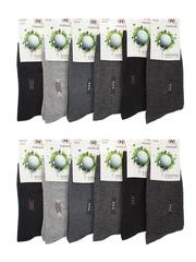 B32 носки мужские 42-48 (12шт.) цветные