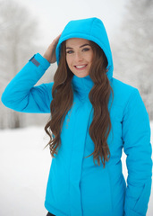 Премиальная теплая лыжная куртка Nordski Mount Blue женская