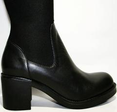 Черные сапоги чулки Rovigo 8090