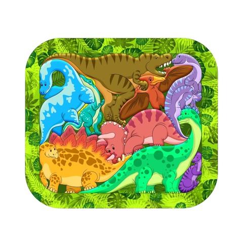 Деревянный пазл Зоопазл Динозавры, Нескучные Игры, арт. 8076