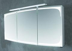Зеркальный шкаф с подсвекой Puris Classic Line 120 цвет: белый глянец