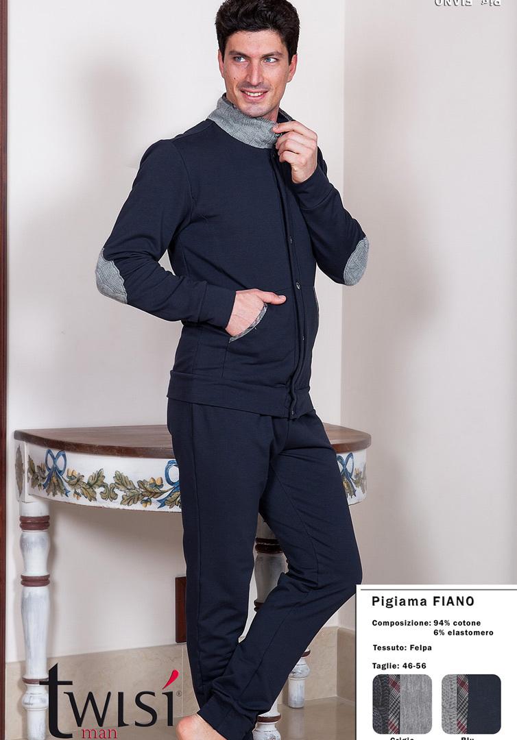 Мужской домашний костюм на пуговицах Twisi