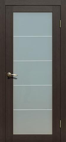 Дверь La Stella 213, стекло матовое, цвет дуб мокко, остекленная