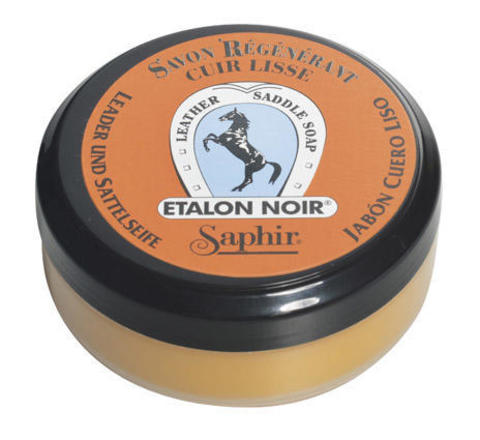 Мыло для гладкой кожи Saphir Etalon Noir SADDLE SOAP, 100мл.