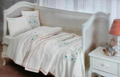 НАБОР Детское  постельное белье с пледом BEEP BEBE deluxe TIVOLYO HOME Турция