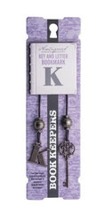 Antiqued: Key and Letter Bookmark - Letter K