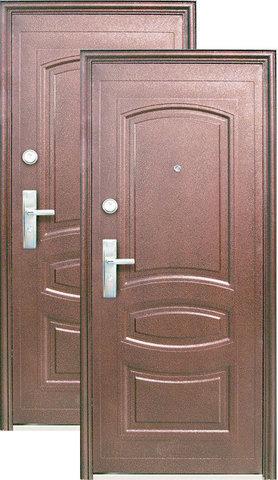 Дверь входная Кайзер АМ 501, 2 замка, 1,2 мм  металл, (медь антик+медь антик)