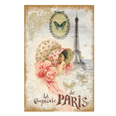 Водорастворимая бумага Винтажные открытки/Воспоминания о Париже