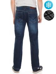 LN853 джинсы мужские утепленные, синие