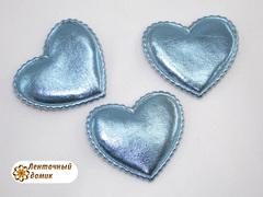 Мягкие сердечки голубые