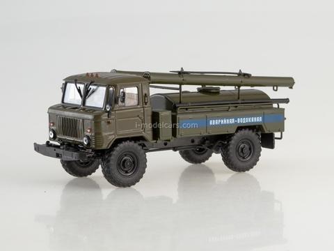 GAZ-66 AC-30 Emergency Service water canal khaki 1:43 AutoHistory