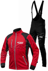 Утеплённый лыжный костюм RAY STAR WS Red-Black 2018 мужской