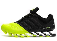 Кроссовки Мужские Adidas Spring Blade Black Acid Green