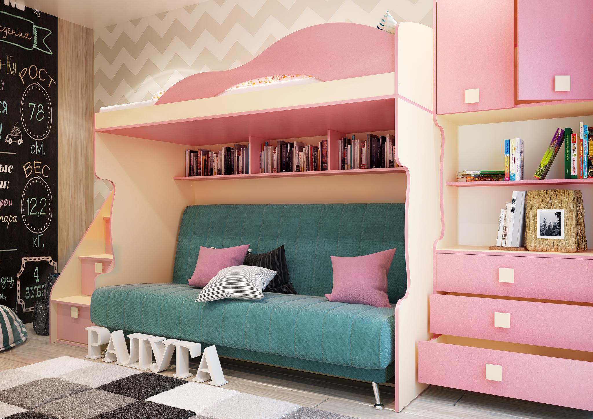 Кровать 2-й этаж