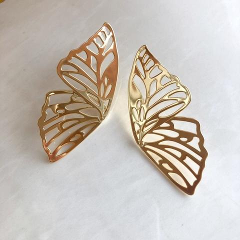 Серьги Крылья Бабочки, позолота