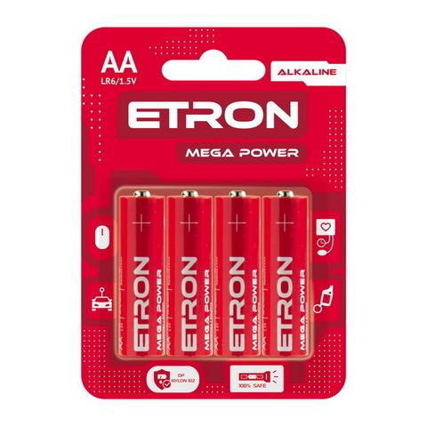 Батарейки Maxus/Etron Alkaline LR6, AA (4/40)
