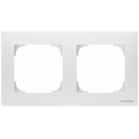 Рамка на 2 поста. Цвет Белый. ABB(АББ). Sky(Скай). 2CLA857200A1101