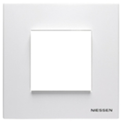 Рамка на 1 пост. Цвет Белый. ABB(АББ). Niessen Zenit(Ниссен Зенит). N2271 BL