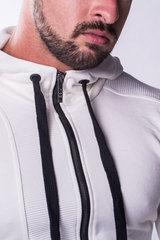 Мужская кофта с капюшоном Nebbia 720 cream