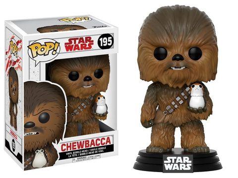 Фигурка Funko POP! Bobble: Star Wars: The Last Jedi: Chewbacca w/ Porg
