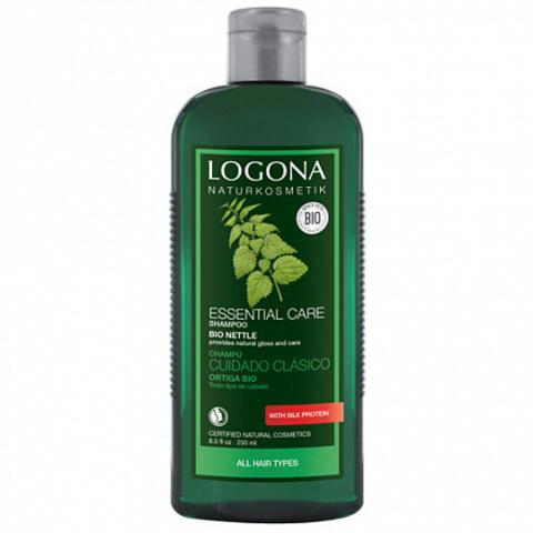 Шампунь для базового ухода за волосами с Экстрактом Крапивы 250 мл (LOGONA)