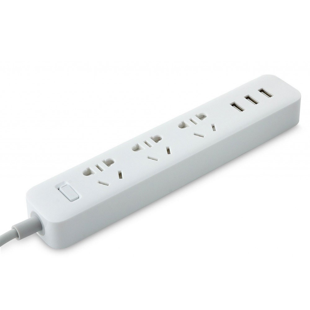 Удлинитель Xiaomi Mi Power Strip (3 розетки+3 USB, белый)