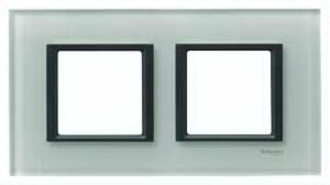 Рамка на 2 поста. Цвет Матовое стекло. Schneider electric Unica Class. MGU68.004.7C3